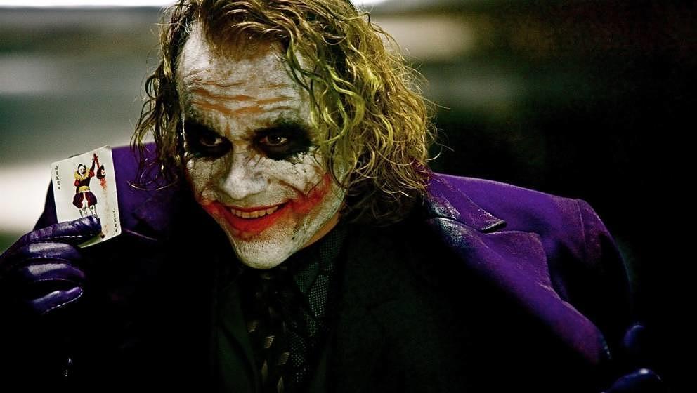 Heath Ledger landet als Joker nur auf Platz 2.