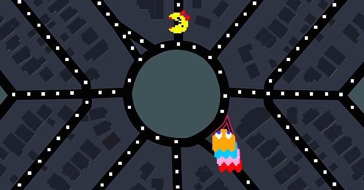 So sieht der Google-Maps-Pac-Man aus.