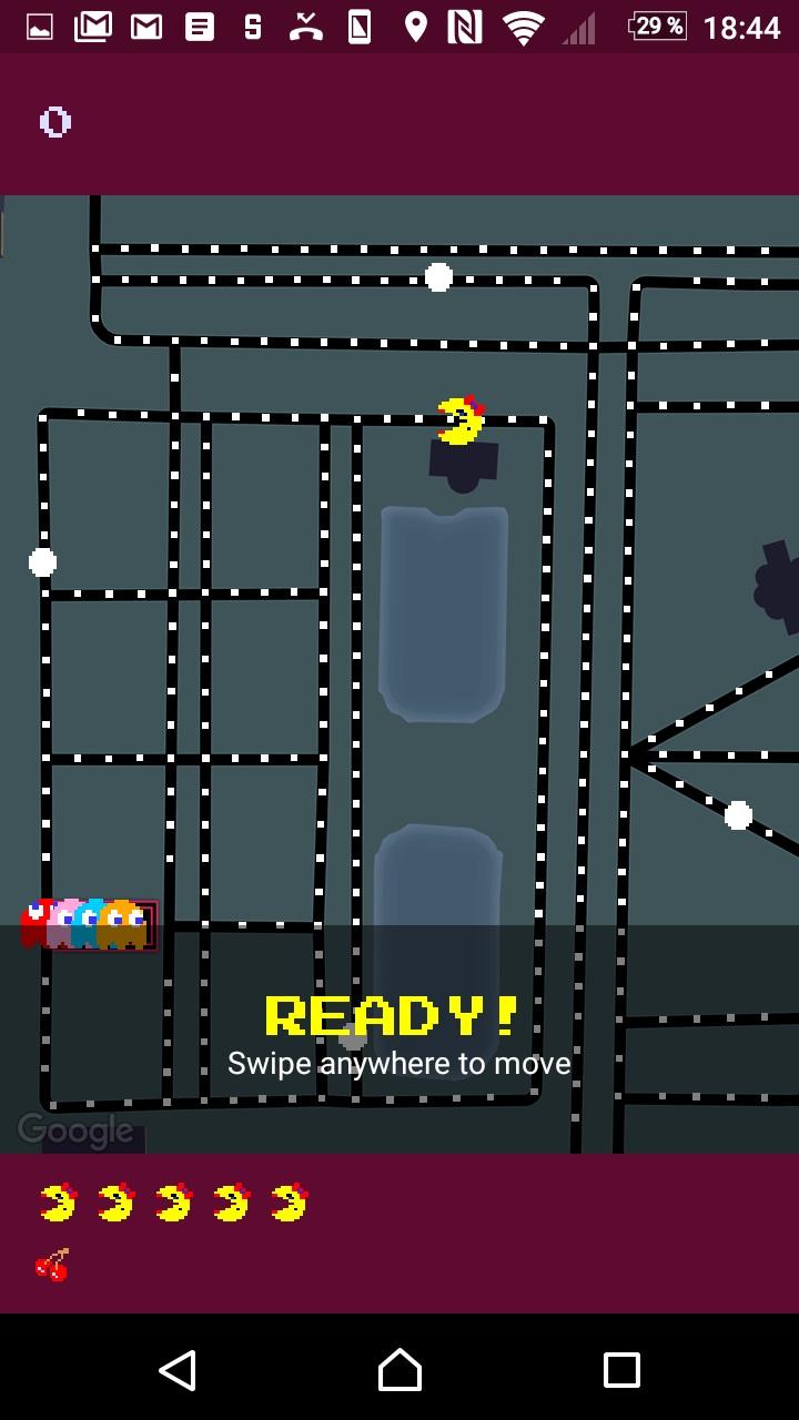 Fünf Leben und zwei Kirschen: Pac Man auf dem Android-Telefon.