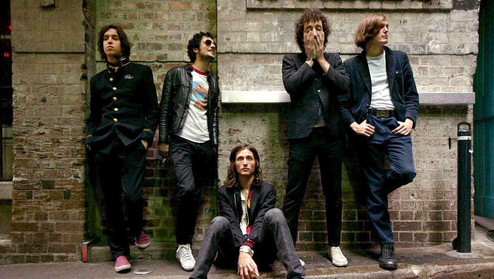 (AUSTRALIA & NEW ZEALAND OUT) Members of rock band The Strokes in Sydney for a concert at the Gaelic Club, 23 November 20
