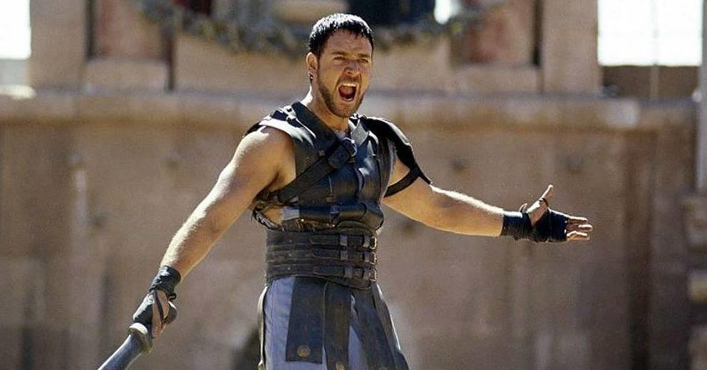 "Russell Crowe in ""Gladiator""."