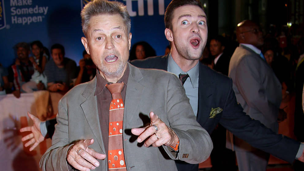 TORONTO, ON - SEPTEMBER 13:  Director Jonathan Demme (L) and musician/actor Justin Timberlake attend the 'Justin Timberlake +