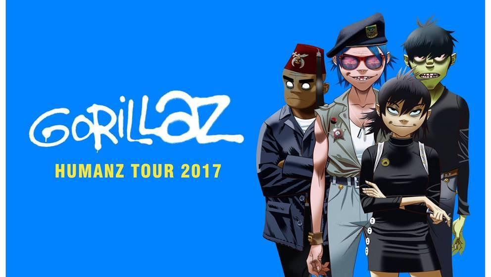 Gorillaz kündigen HUMANZ-Tour 2017 an
