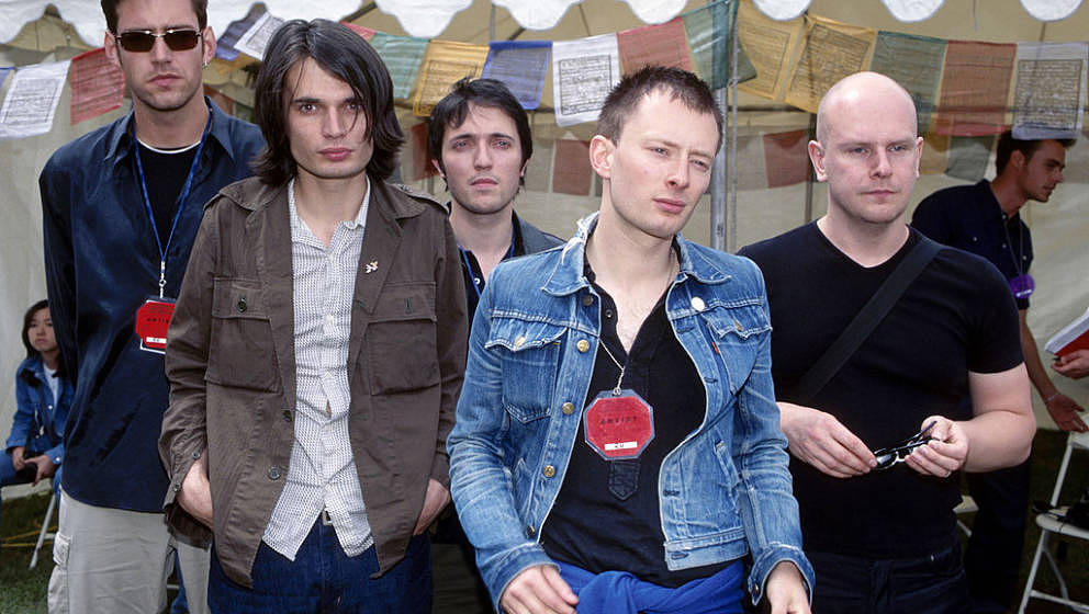 Radiohead at the Loew's Astor Plaza in New York City, New York (Photo by Kevin Mazur/WireImage)