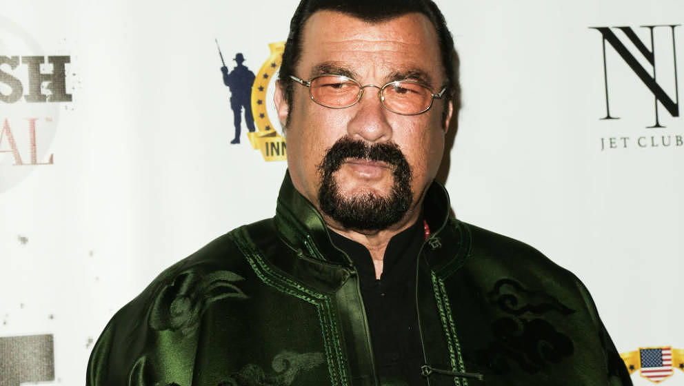 LOS ANGELES, CA - FEBRUARY 23:  Actor Steven Seagal attends the SMASH Global V pre-Oscar fight at Taglyan Complex on February