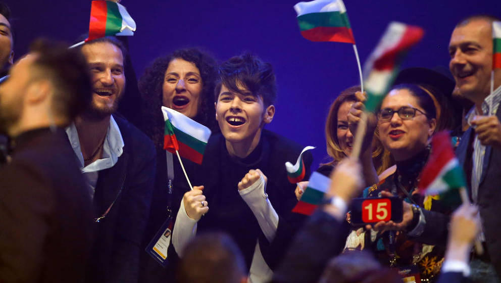 during the second semi final of the 62nd Eurovision Song Contest at International Exhibition Centre (IEC) on May 11, 2017 in