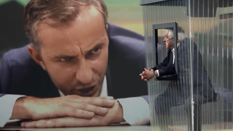 """Hans Meiser als """"Der kleine Mann"""" bei Jan Böhmermann. Glaubt Meiser privat etwa wirklich das, was er da im """"Neo Magazi"""