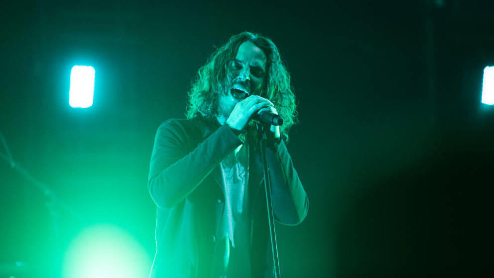 ATLANTA, GA - MAY 03:  Chris Cornell of Soundgarden performs on stage at Fox Theater on May 3, 2017 in Atlanta, Georgia.  (Ph