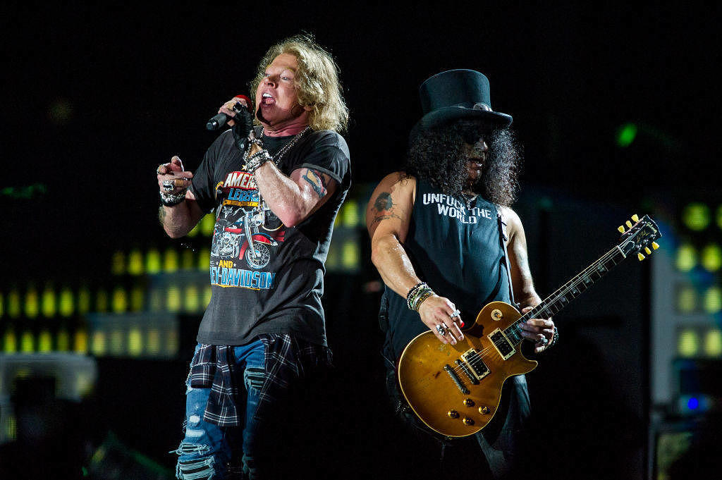 Axl Rose und Slash live mit Guns N'Roses im Februar 2017 in Brisbane, Australien