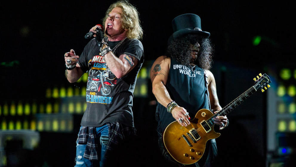 Axl Rose und Slash live mit Guns N'Roses im Februar 2017 in Brisbane, Australien
