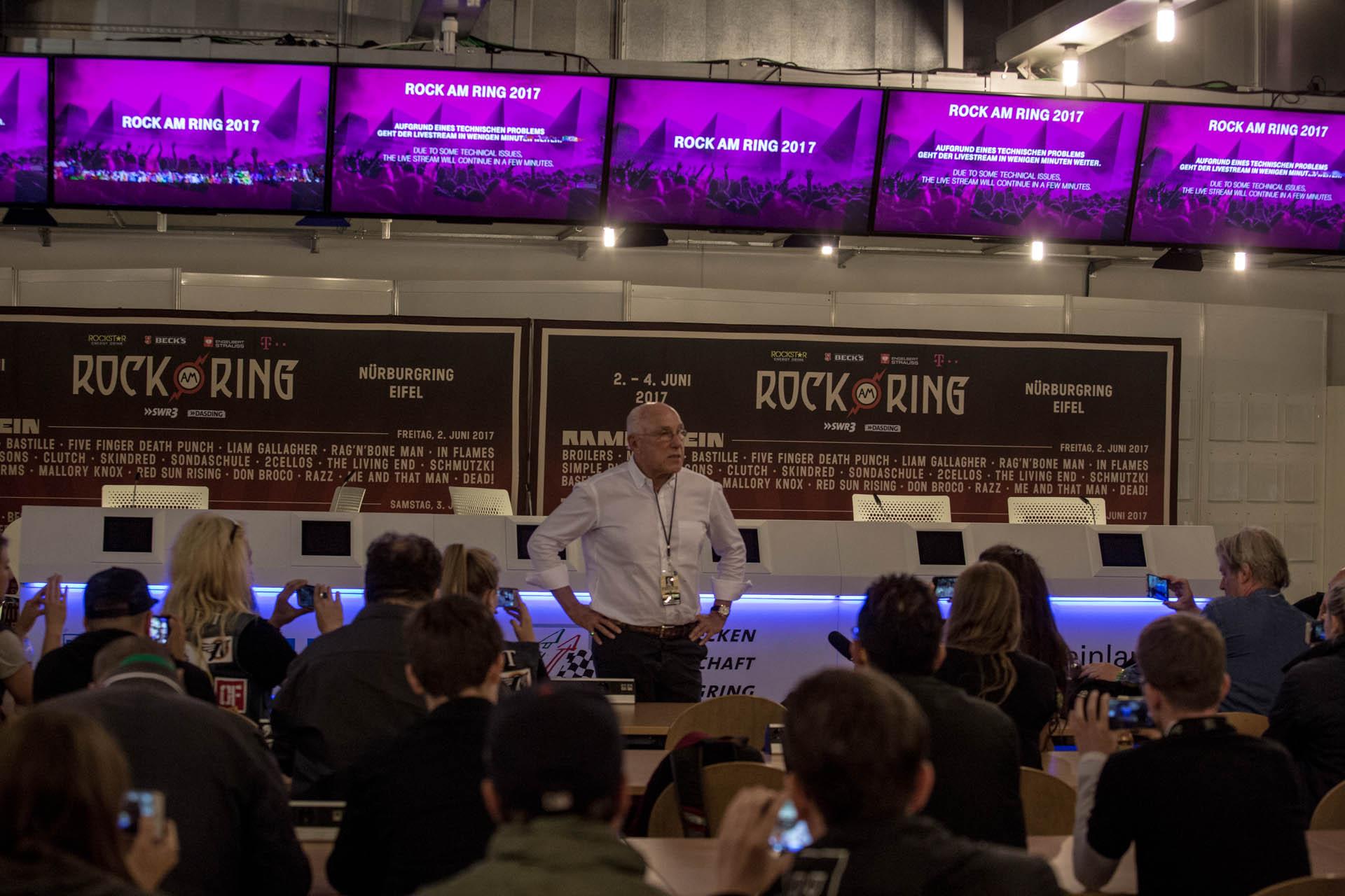 Unterbrechung Von Rock Am Ring Harte Worte Von Marek Lieberberg
