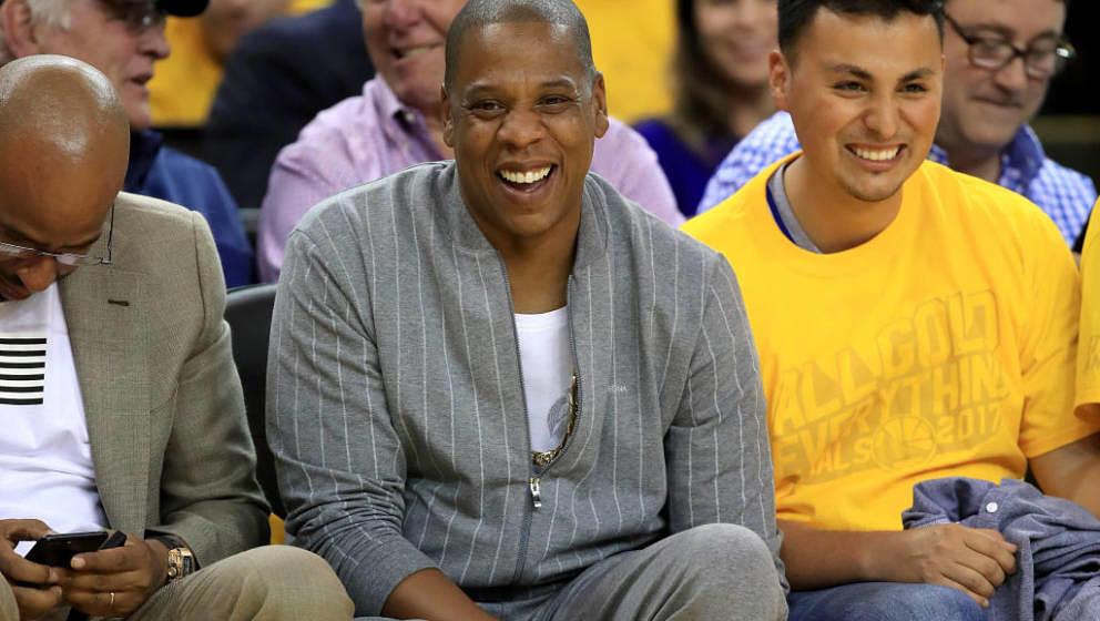Jay Z im Publikum bei den NBA Finals 2017 am 1. Juni in Oakland