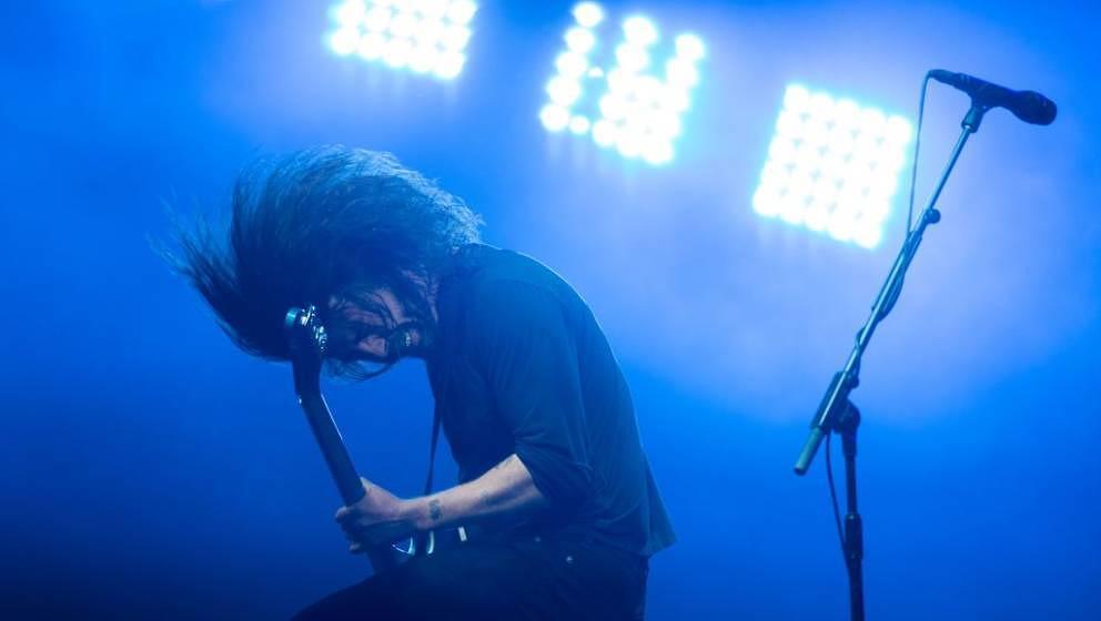 Mattenschwinger: Dave Grohl mit den Foo Fighters am 24. Juni 2017 beim Glastonbury Festival