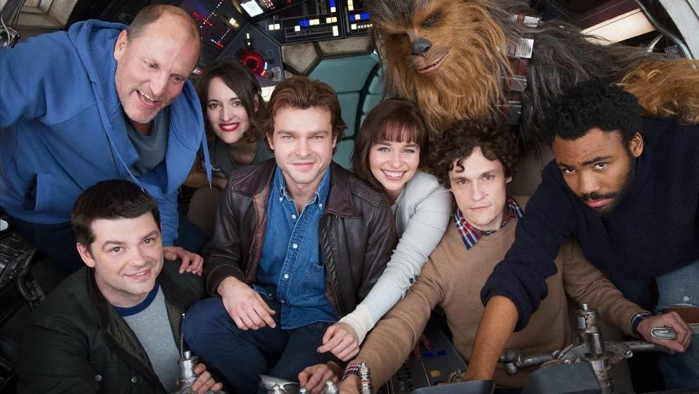 """Hier war das Team des """"Han Solo""""-Films noch vollständig und guter Dinge."""