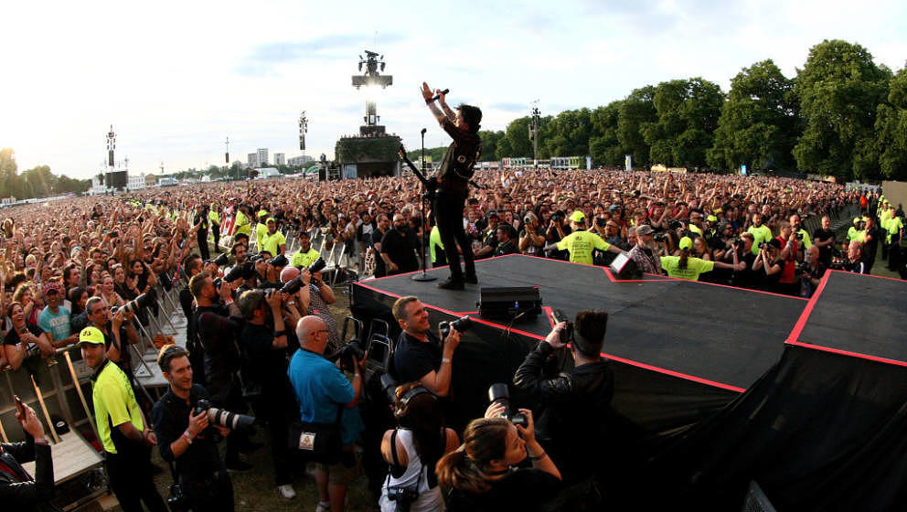 Billie Joe Armstrong live mit Green Day am 1. Juli 2017 im Londoner Hyde Park