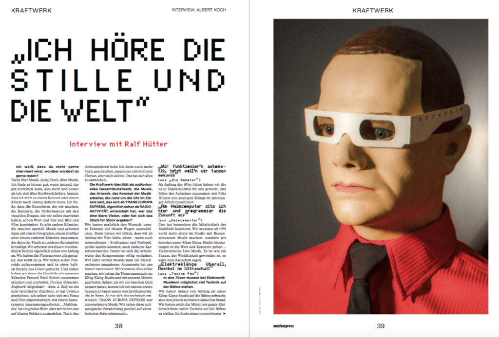 Der Neue Musikexpress Mit Kraftwerk Vinyl Interview Mit