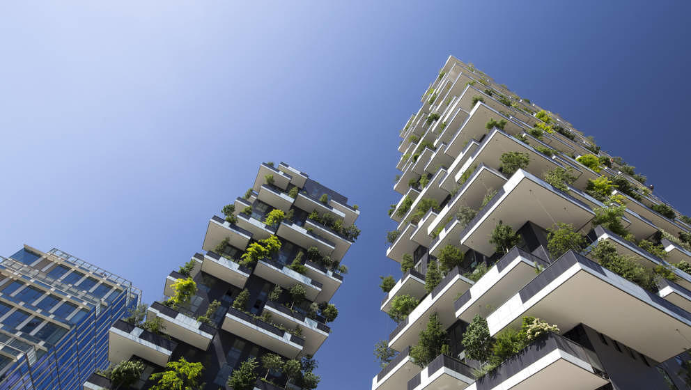 Bosco Verticale is a pair of 2 residential towers featuring facades covered with plants and trees. Porta Nuova is a new moder