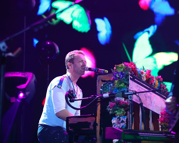 Chris Martin from Coldplay performs on stage during the Global Citizen Festival G20 benefit concert at the Barclaycard Arena