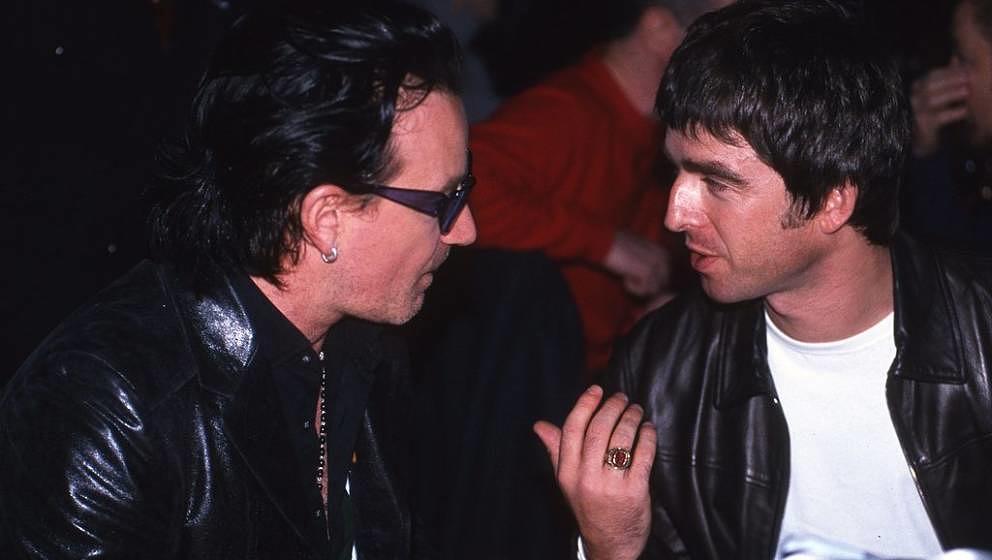 Kennen sich schon länger: Bono und Noel, hier bei den NME Awards 1995