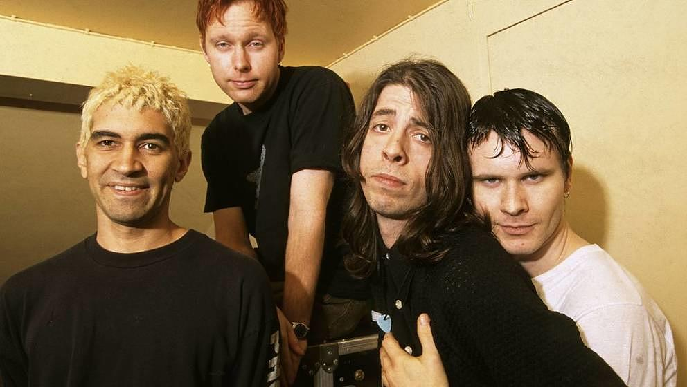 Die frühen Foo Fighters: Pat Smear, Nate Mendel, Dave Grohl und William Goldsmith
