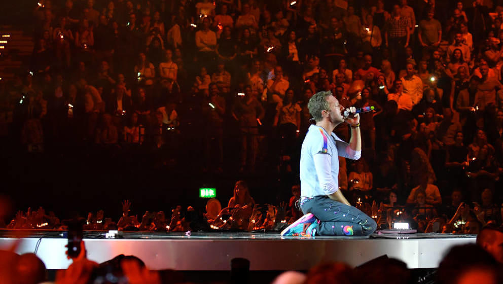 Chris Martin mit Coldplay live beim Global Citizen Festival 2017 in Hamburg