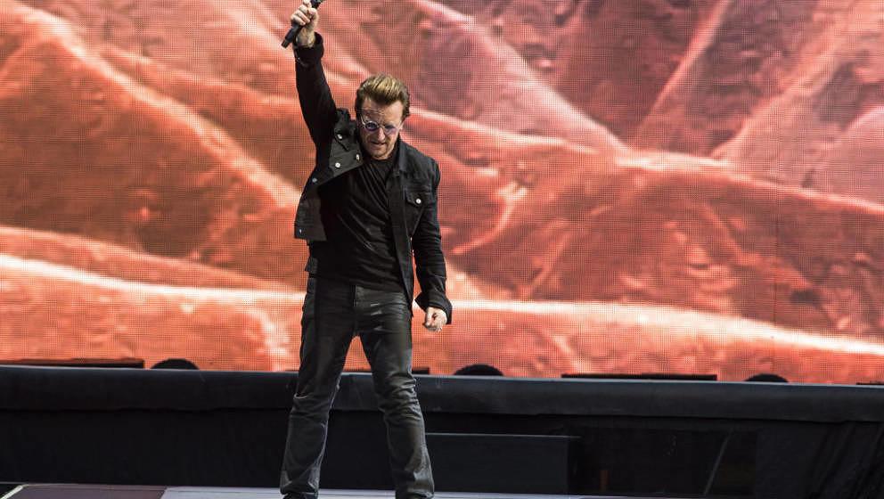 """Ist das Westernhagen? Nein, das ist Bono bei U2s """"The Joshua Tree""""-Konzert am 8. Juli 2017 in London"""