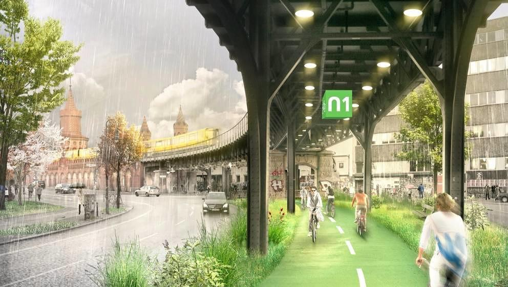 Die begrünte Strecke unter der Berliner U1 soll neun Kilometer lang werden und mehr als nur eine Fahrbahn sein.