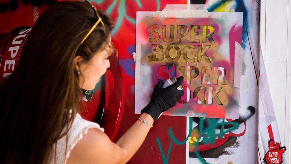 Grafitti-Workshop beim Super Bock Super Rock 2017