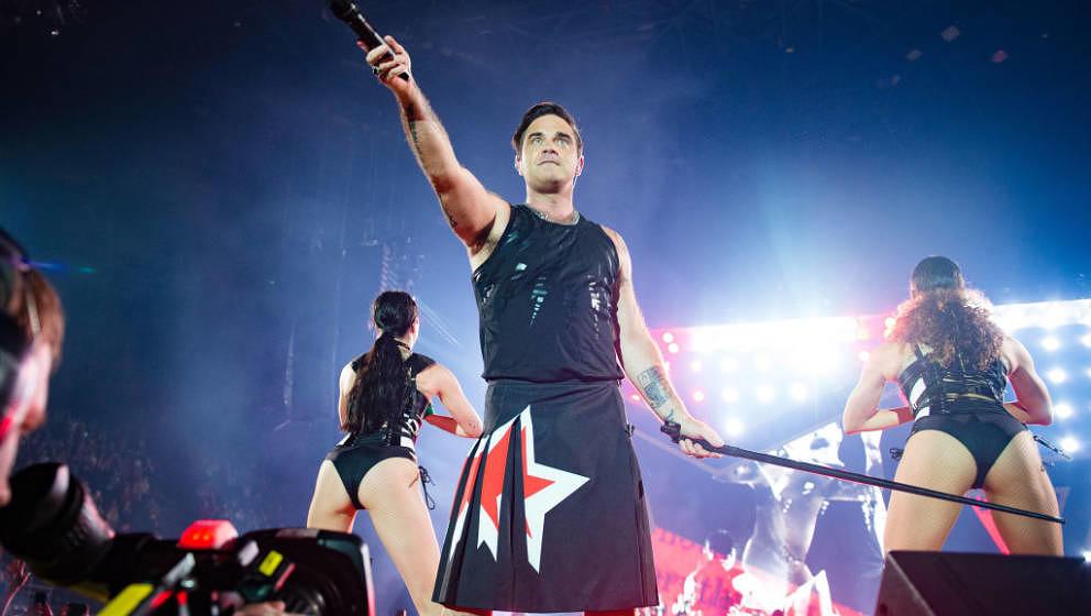 Robbie Williams spielte am 25. und 26. Juli in der Berliner Waldbühne zwei ausverkaufte Konzerte.