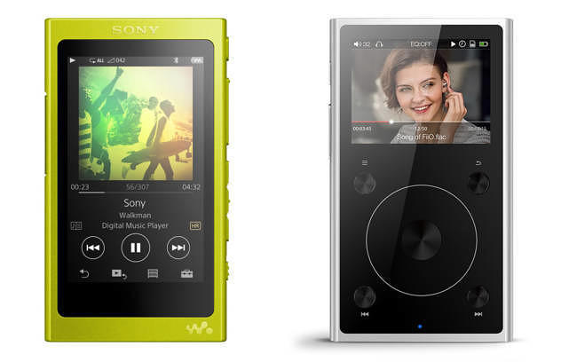 Sony Walkman NW-A35 (links) und Fiio X1 II