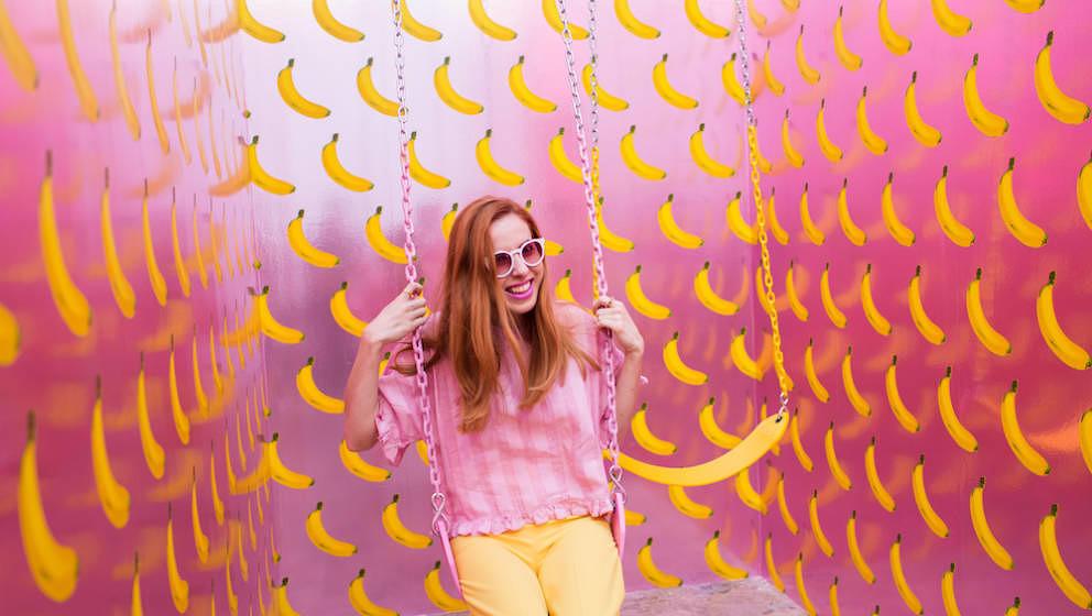 Ähnliche wie im Museum of Ice Cream ist es im Happy Place farbenfroh