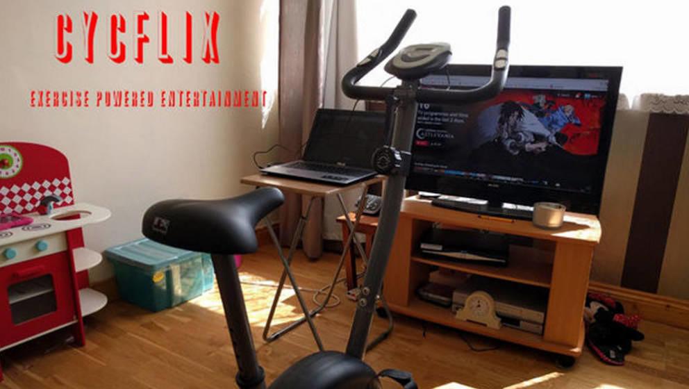 Beste Motivation für Netflix-User: Dieser Heimtrainer stoppt die Wiedergabe, sobald man aufhört zu treten