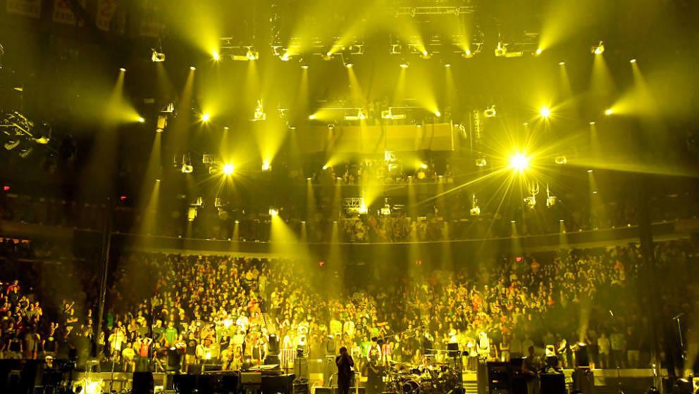 Phish am 6. August 2017, dem Abschlussabend ihrer Konzertreihe 'The Baker's Dozen' im Madison Square Garden