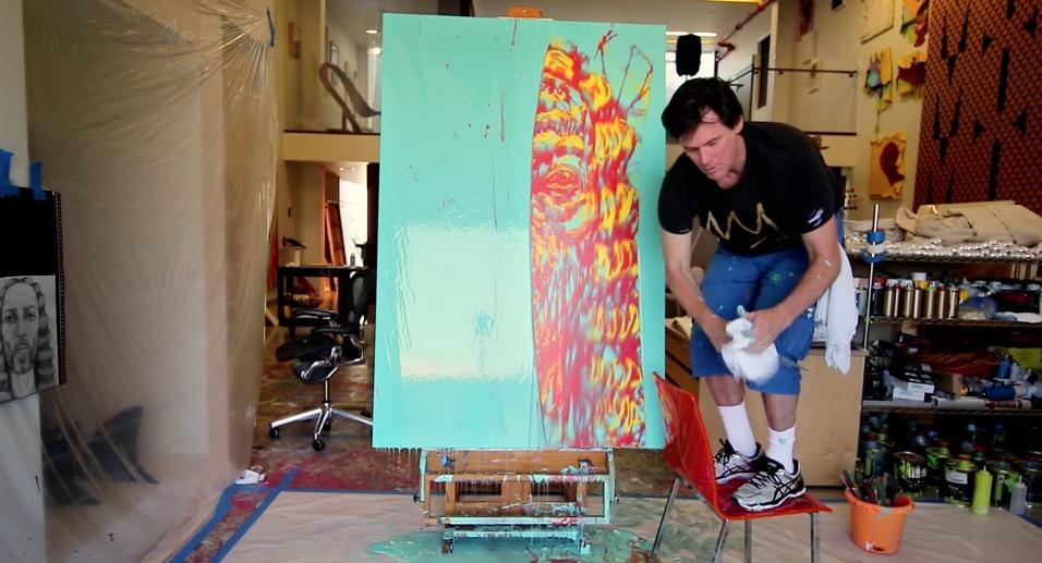 Jim Carrey in seinem Atelier