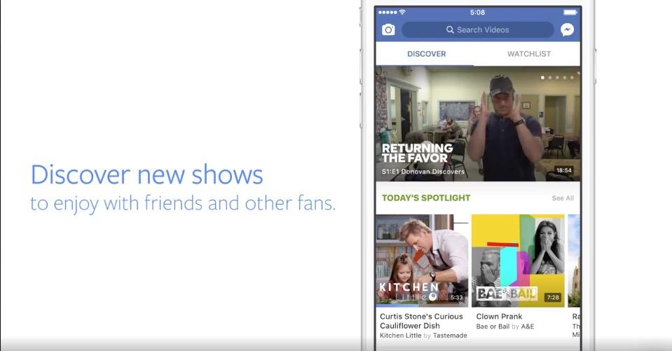 Die Funktion Watch soll den Facebook-Nutzern passende Inhalte empfehlen