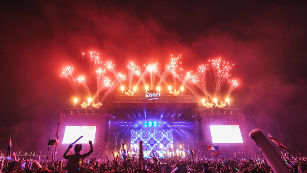 BUDAPEST, HUNGARY - AUGUST 15:  General view of Finale show during Day 7 of Sziget Festival 2017 on August 15, 2017 in Budape