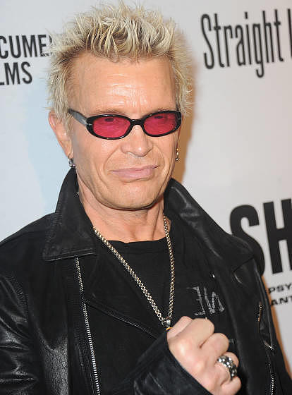 LOS ANGELES, CA - APRIL 05:  Musician Billy Idol  arrives for the Premiere Of  'SHOT! The Psycho-Spiritual Mantra of Rock'  h