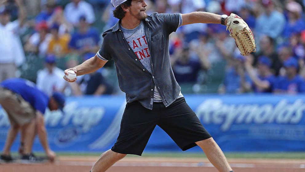Edelfan der Chicago Cubs: Eddie Vedder, hier am 18. August 2016 im Wrigley Field