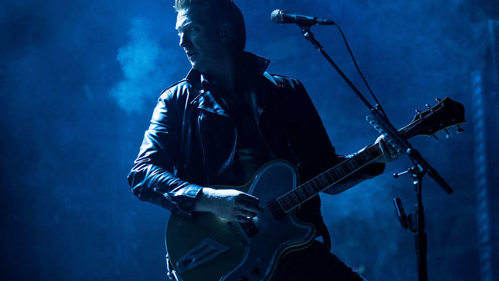 BYRON BAY, AUSTRALIA - JULY 22:  Josh Homme of the band Queens of the Stoneage performs during Splendour in the Grass 2017 on