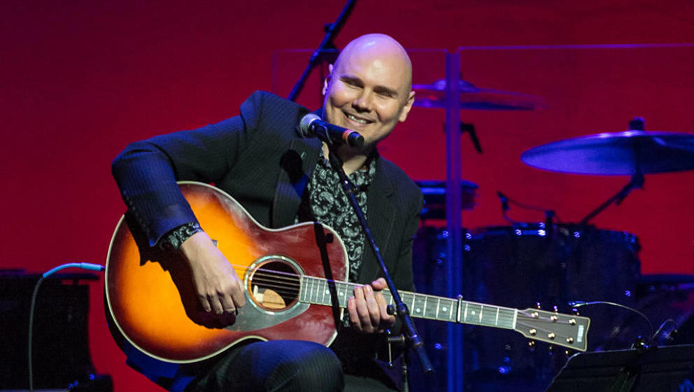 Billy Corgan live auf einem Charity-Event von Cindy Lauper am 3. Dezember 2016 in New York