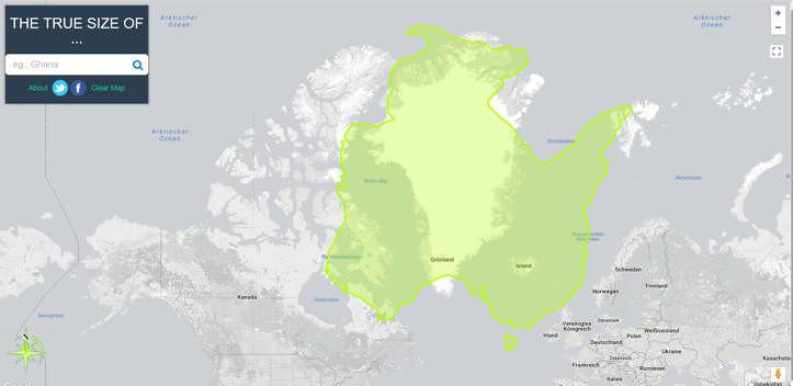 """Australien """"verschluckt"""" ganz Grönland im Größenvergleich"""