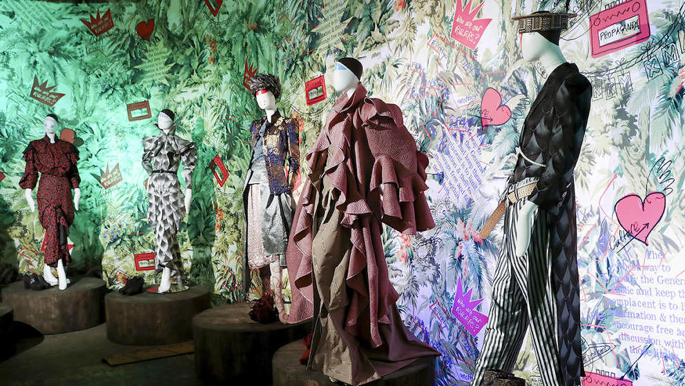 BERLIN, GERMANY - SEPTEMBER 01:  A general view at the Vivienne Westwood Archive Exhibition at Bread & Butter by Zalando