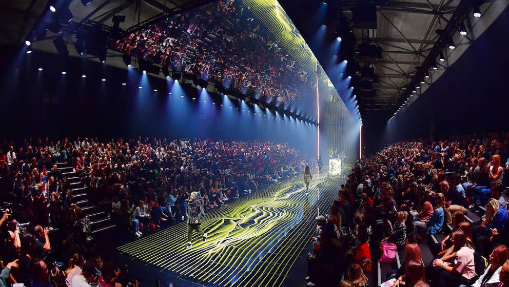 BERLIN, GERMANY - SEPTEMBER 01:  A general view of the runway at the Zalando A/W 17 women show during the Bread & Butter
