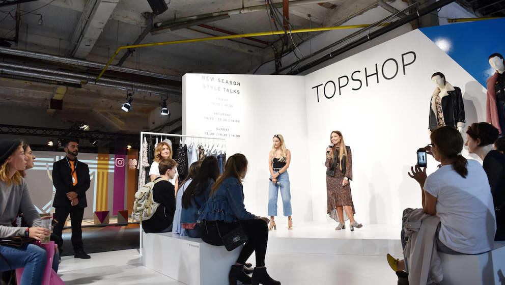 BERLIN, GERMANY - SEPTEMBER 01:  Guests attend the Topshop Personal Shopper Style Talk during the Bread & Butter by Zalan