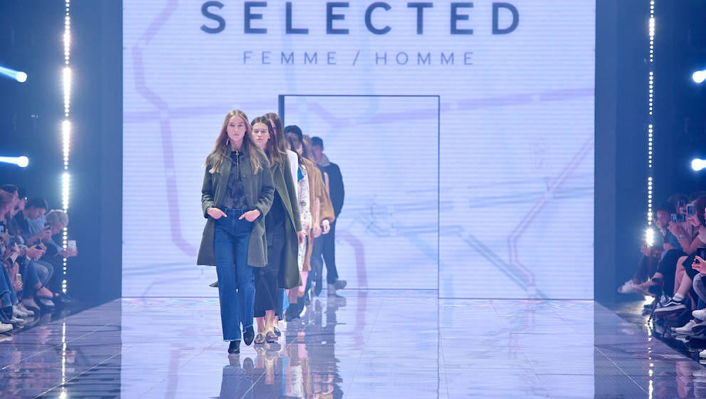 BERLIN, GERMANY - SEPTEMBER 02:  Models walk the runway at the Selected Femme/Homme show during the Bread & Butter by Zal