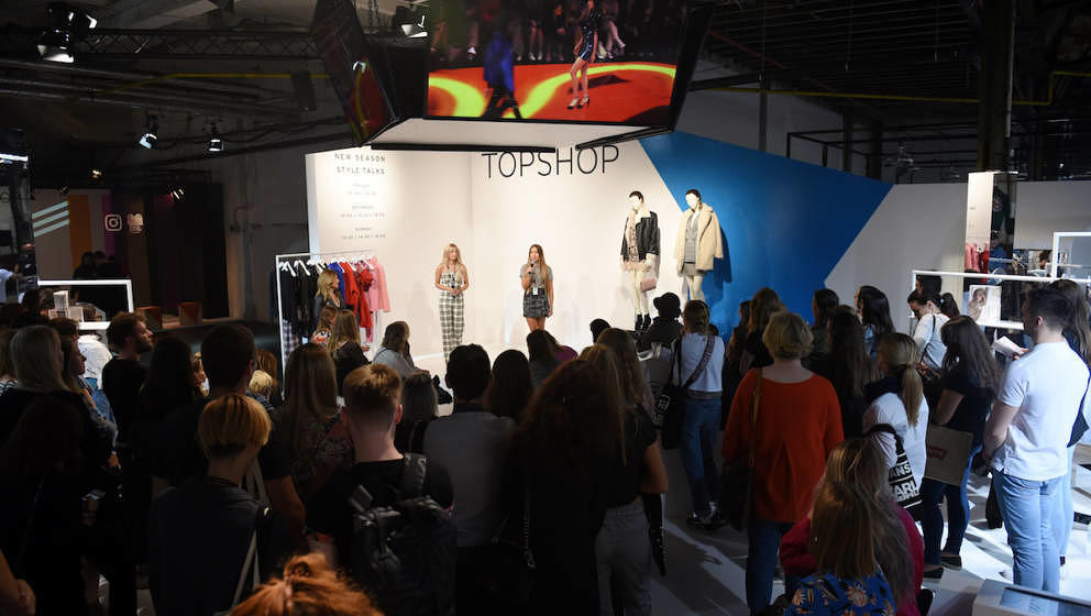 BERLIN, GERMANY - SEPTEMBER 02:  Topshop Personal Shopper Style Talk during the Bread & Butter by Zalando at Topshop Bran