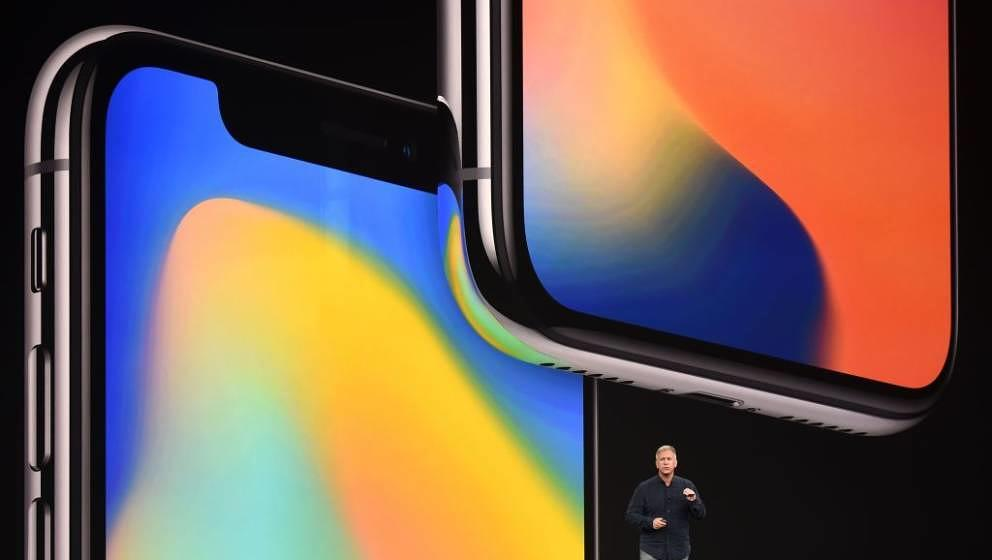 Senior Vice President of Worldwide Marketing at Apple Philip Schiller speaks about the iPhone X during a media event at Apple