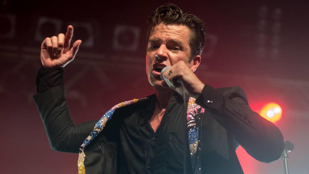 Um Haltung bemüht: Brandon Flowers mit The Killers oder dem, was davon übrig ist, am 15. September 2017 live in Köln