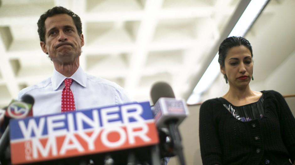 Anthony Weiner wollte Bürgermeister von New York werden.