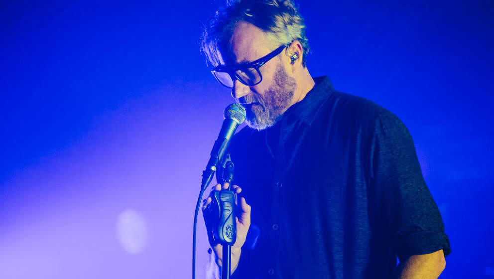 MANCHESTER, ENGLAND - SEPTEMBER 22:  Matt Berninger of The National performs at O2 Apollo Manchester on September 22, 2017 in